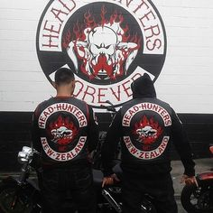 Head Hunters MC New Zealand #headhuntersmc Head Hunter, Hells Angels, Biker Patches, Motorcycle Clubs, Hunters, Photo S, Red And White, Black, New Zealand
