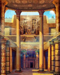 Background concept and design for felix gaming slot game Egyptian Queen, Egyptian Art, Egyptian Things, Egypt Games, Egypt Concept Art, Ancient Egypt History, Visit Egypt, Senior Home Care, Fantasy Places