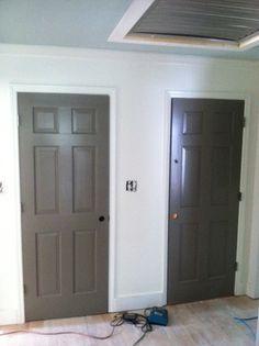 Paint color for interior doors BM Sparrow AF-720