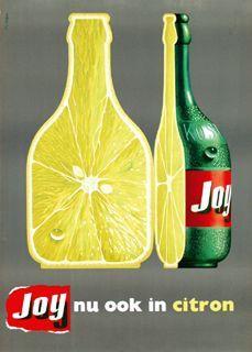vintage Joy citrus soft drink advertisement, Dutch