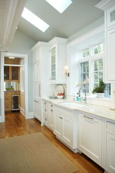 Ceiling pitch, skylights, cabinetry