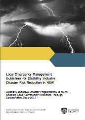 Local emergency management guidelines for disability inclusive disaster risk reduction in NSW