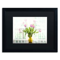 Tulips in the Window by Lois Bryan Framed Photographic Print