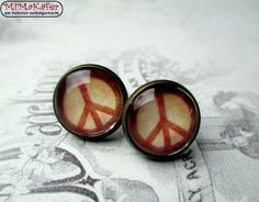 Ohrstecker Cabochon Peace