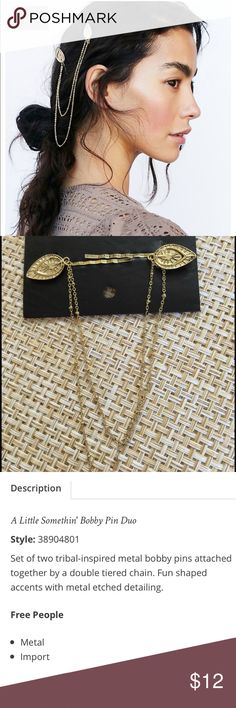 Free People Bobbin Duo Gold See photo for description. Thanks🌺 Free People Accessories Hair Accessories