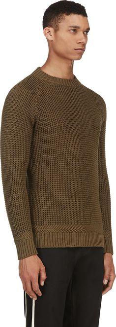 Sasquatchfabrix - Khaki Knit Sweater | SSENSE