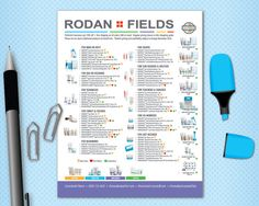 Rodan + Fields Product Order Form or Gift Guide with Checklist Format in US Pricing with 4 Regimens, Personalized, for Emailing or Printing. Get yours at @consultantsps #randf #rodanandfields #randfconsultant #graphicdesigner