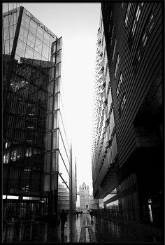 London, Black and White Office Blocks