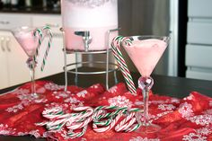 - Christmas Punch Christmas Punch Recipe (Cherry Strawberry jelly, Peppermint stick ice cream, Candy canes to make it cute) Non Alcoholic Christmas Punch, Christmas Cocktails, Holiday Drinks, Christmas Desserts, Holiday Treats, Christmas Treats, Christmas Baking, Fun Drinks, Yummy Drinks