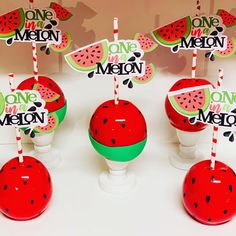 pictame webstagram One In A Melon 🍉 Theme Watermelon Birthday, One In A Melon, Candy Apples, Summer Treats, Hard Candy, 1st Birthday Parties, First Birthdays, Sweet Treats, Party Ideas