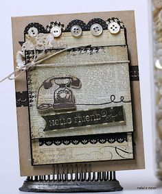 simple stories & unity stamp company - simple hello my friend - card created by unity design team member natalie dever.