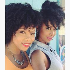 @styledchic_ Cali girls ☀️ #hair2mesmerize #naturalhair #healthyhair