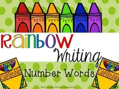 Rainbow Writing FREEBIE