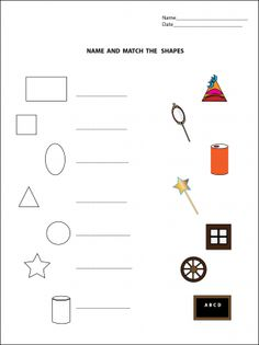 REPIN Name and Match Shapes Worksheets. Endless amounts of worksheets on this site, all for free!