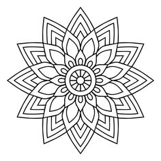 A black and white mandala Free Vector Mandala Art Lesson, Mandala Doodle, Mandala Drawing, Mandala Painting, Mandala Tattoo, Mandala How To Draw, Coloring Book Art, Mandala Coloring Pages, Colouring Pages