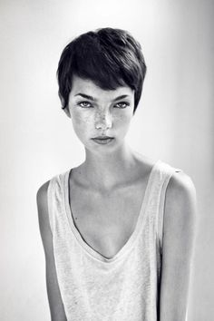 Would love if I could pull this off, but my hair is too thick, too straight. Face not quite right for such a short cut.