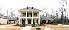 residential design and architecture in Lafayette Louisiana and all of Louisiana and the South New House Plans, Small House Plans, House Floor Plans, Front Porch Makeover, Creole Cottage, Cottage Exterior, Modern Farmhouse Plans, Cottage Style Homes, Residential Architecture