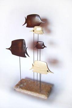 Mid century modern abstract danish modern fish sculpture retro 1960s 1950s: