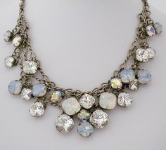 Sorrelli Chunky Crystal Necklace, Weddings, Evening Wear - I'd buy it now it I thought my daughter would wear it someday.