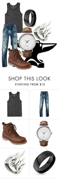 """""""Hephaestus"""" by the-mad-hattess on Polyvore featuring Hollister Co., Nudie Jeans Co., L.L.Bean, Georg Jensen, Cantini MC Firenze and Bling Jewelry"""