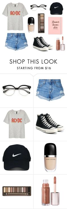 """Unintitled #3"" by thestreetgal on Polyvore featuring moda, Nobody Denim, H&M, Converse, Nike Golf, Marc Jacobs, Urban Decay, StreetStyle, converse e casualoutfit"