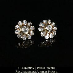 Enamel Jewelry, Diamond Jewelry, Diamond Earrings, Jewellery Earrings, Stud Earrings, Uncut Diamond, Diamond Cuts, Indian Jewelry Sets, Gold Price