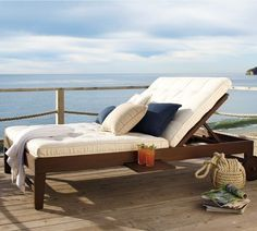Chesapeake Double Chaise | Pottery Barn