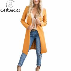 Autumn Women Long Sleeves Warm Blends Outwear Cardigans Solid Long Style Slim Fashion Wool Blends Lady Winter Long Trench Coat. Yesterday's price: US $34.20 (28.01 EUR). Today's price: US $21.89 (18.10 EUR). Discount: 36%.