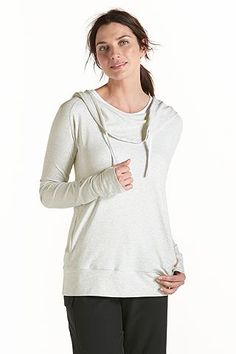 What's new with the ZnO Cowl Neck Pullover? Well now you can get it our great Heather Grey color. Every garment at #Coolibar is rated UPF 50+ for sun protection all year long.