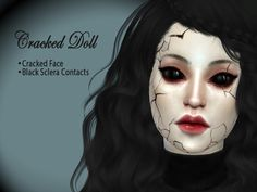 Sims 4 CC's - The Best: Cracked Doll Set by hutzu
