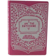 Rob Ryan Notebook - A5 (25 BRL) ❤ liked on Polyvore featuring home, home decor, stationery, books, notebooks, fillers and pink
