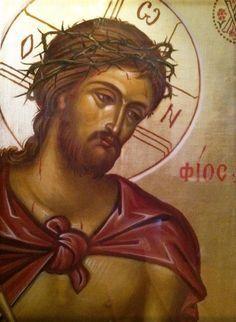 Icon of Christ the Bridegroom by Photios Kontoglou; Orthodox Icons, Art Appreciation, Jesus Images, Jesus Face, The Cross Of Christ, Catholic Art, Art Icon, Sacred Art