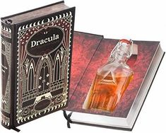 Flask Hollow Book - Dracula (Leather-bound) Bram Stoker's Dracula, Leather Bound Books, Ribbon Bookmarks, Secret Hiding Places, Glass Etching, Real Leather, Flask, Great Gifts, Etsy