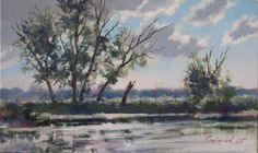 Landscape by Bogdan Goloyad 18x30 cm oil on by BogdanGoloyadArt