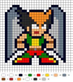 Hawkgirl DC Perler Bead Pattern