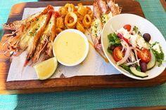 Two Oceans Restaurant - The Roaming Taster Ocean Restaurant, Prawn, Oceans, Platter, South Africa, Restaurants, Chicken, Ethnic Recipes, Food