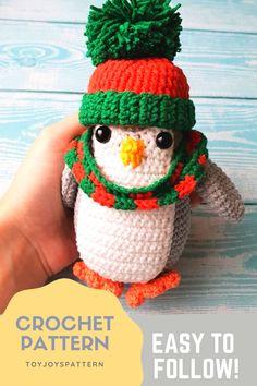 Newborn Crochet Patterns, Easy Crochet Patterns, Crochet Patterns Amigurumi, Crochet Hats, Knitting Toys, Knitting Ideas, Knitting Patterns, Handmade Ideas, Handmade Toys