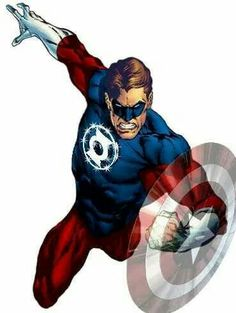 American Lantern, a Mashup of Captain America and Green Lantern