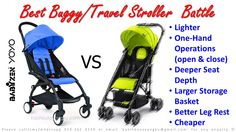 Best Buggy/Travel Stroller Battle. Babyzen Yoyo vs RXXX. RXXX has following advantages over Babyzen Yoyo: > Lighter > One-Hand Operations (open & close) > Deeper Seat Depth > Larger Storage Basket > Better & More Comfortable Leg Rest > Cheaper > 2 Years Warranty > Lovedbyparents Awards Result 2014 - Gold Award for Best Light Weight Stroller Anyone able to guess the brand and model?