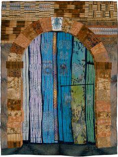 Margaret Ramsay - Tunisian Door (art quilt)   For more fiber art content, join the FiberArtNow.net tribe. by bessie
