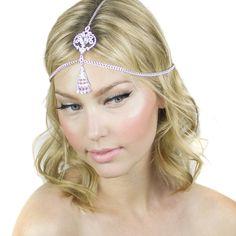 Gypsy Crystal Grecian Chain Bridal Prom Pendant by ShopKP on Etsy, $34.00