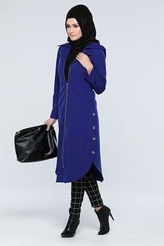 Tesettür Kap - Tozlu.com Islamic Fashion, Muslim Fashion, Ethnic Fashion, Asian Fashion, Modest Fashion, Fashion Outfits, Womens Fashion, Hijab Style, Hijab Chic