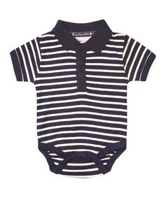 Another great find on #zulily! Navy Stripe Polo Bodysuit - Infant & Toddler #zulilyfinds