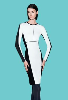 Frame your figure. Narciso Rodriguez for DesigNation #Kohls.  BLACK AND WHITE...CAN'T LIVE WITHOUT!  WEAR THIS TO THE CASINO!
