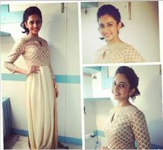 Actor Rakul Preet in an Anita Dongre gown at a concert.