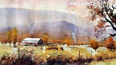 "Glenbrook Barn, Watercolor 22""x30"", Vinita Pappas"