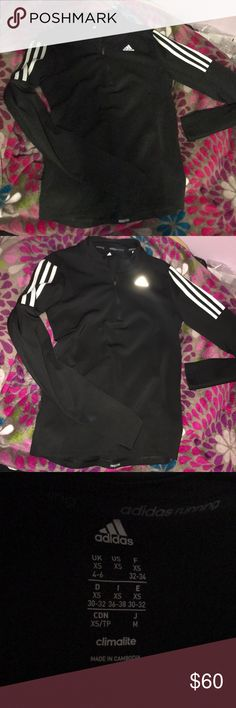 Adidas Running Climalite Response Top NEW W/O TAGS, never worn, took tags off thinking it fit :( . Size xs but could fit a small. Has thumbholes . Half zip . Long sleeve pullover adidas Sweaters V-Necks