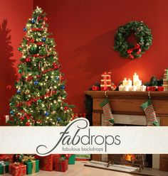 Christmas Backdrop For Family Pictures  For Pro Studios *** 20% OFF YOUR FIRST ORDER *** http://www.fabbackdrops.com/photography-backdrop-coupons/
