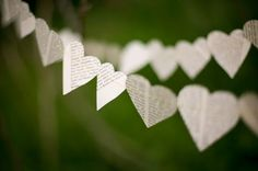 paper heart chains.