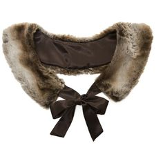 Brown Fur Collar (146.525 IDR) ❤ liked on Polyvore featuring accessories, scarves, collars, outerwear, cape and women
